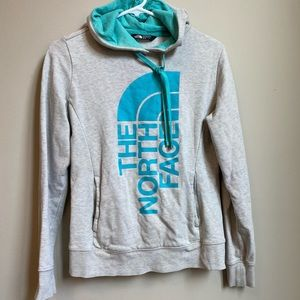 North face gray hoodie size xs